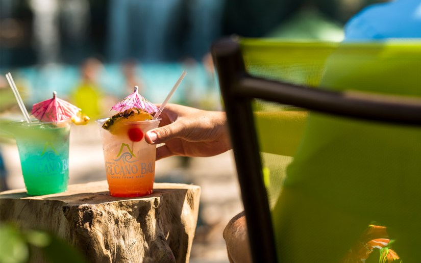 Enjoy one of the 12 signature drinks at Universal's Volcano Bay.