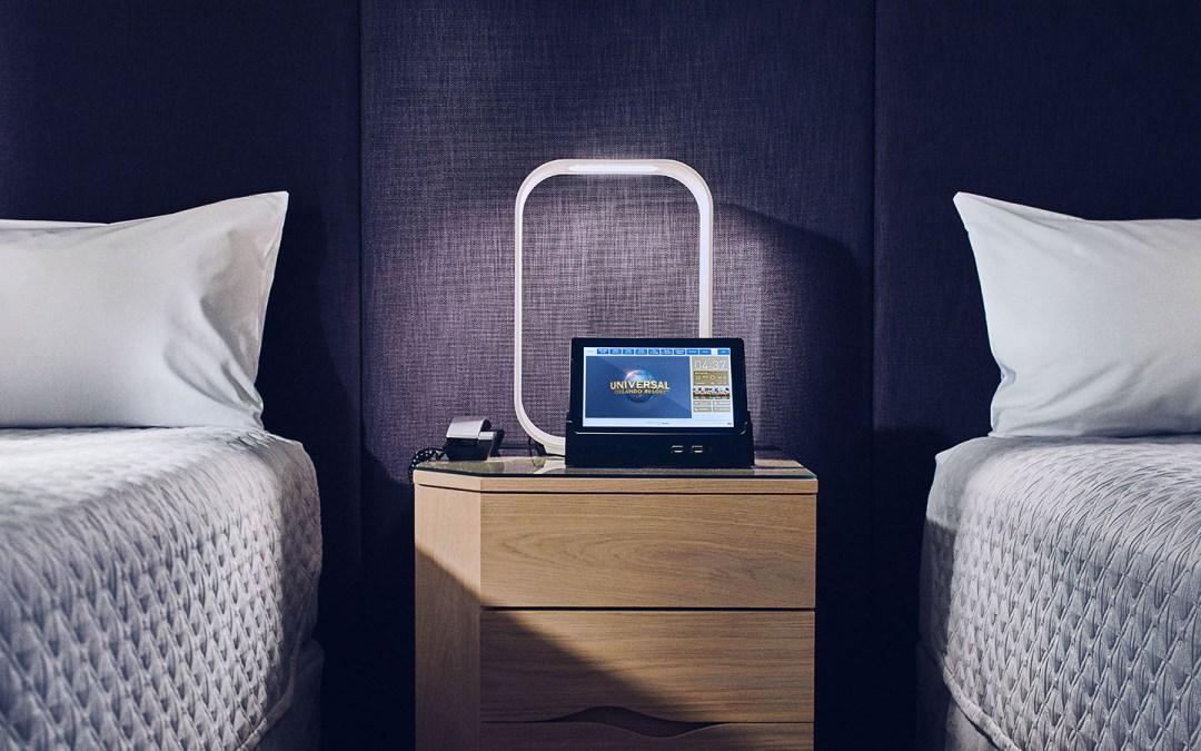 Universal's Aventura Hotel Guest Room Tablet