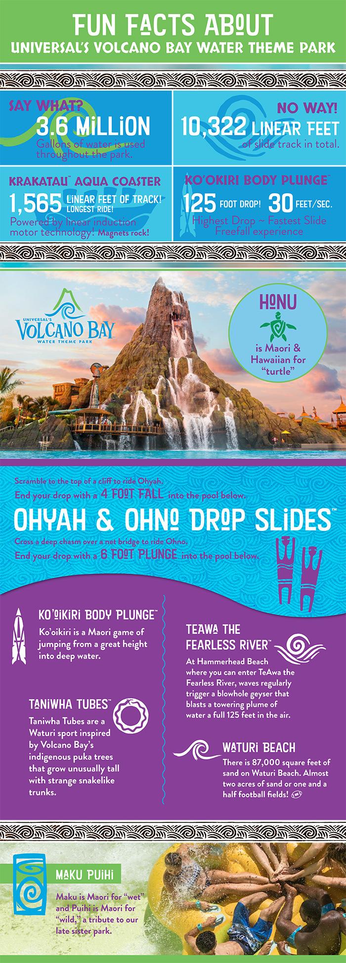Volcano Bay Infographic