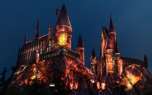 The Nighttime Lights at Hogwarts Castle - Gryffindor