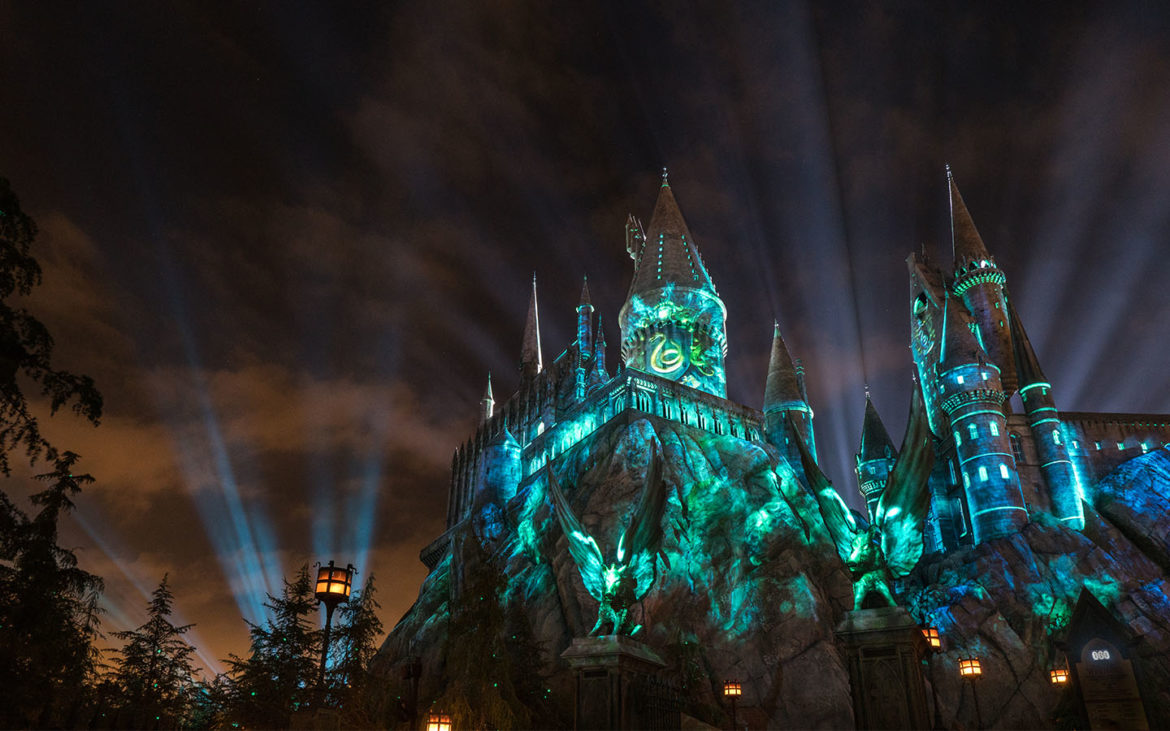 The Nighttime Lights at Hogwarts Castle - Slytherin