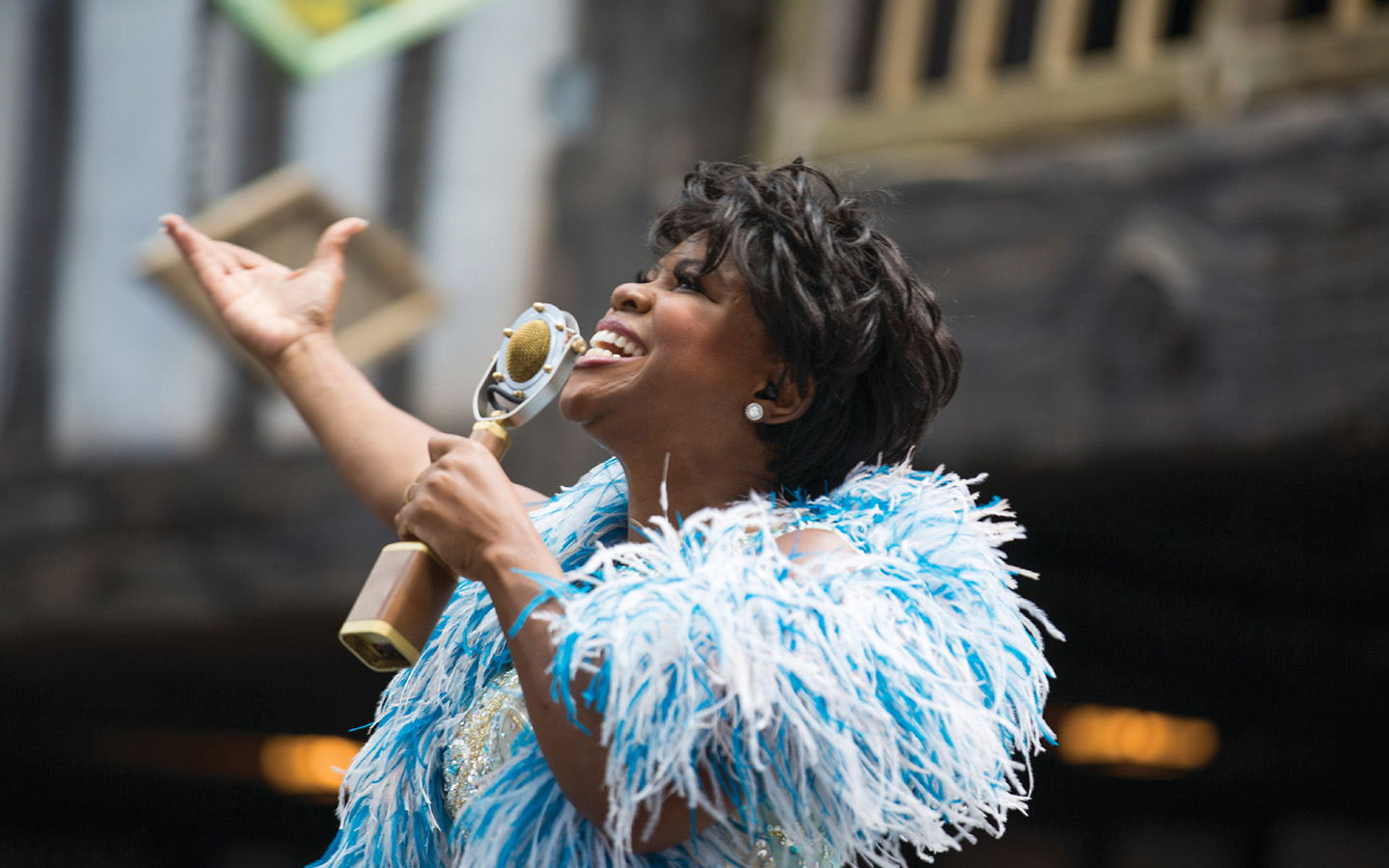 Celestina Warbeck and the Banshees in The Wizarding World of Harry Potter