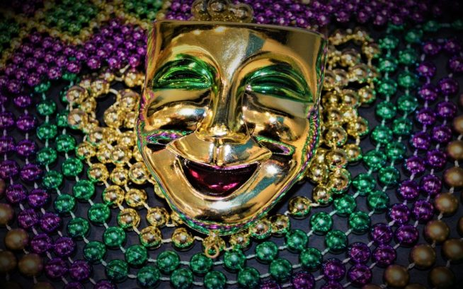 Mardi Gras Merchandise - Happy Face Beads