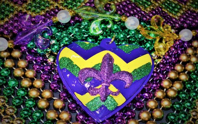 Mardi Gras Merchandise - Heart Saints