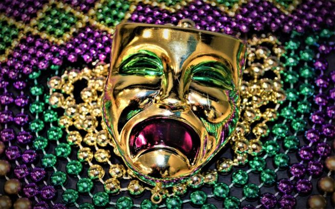 Mardi Gras Merchandise - Sad Face Beads
