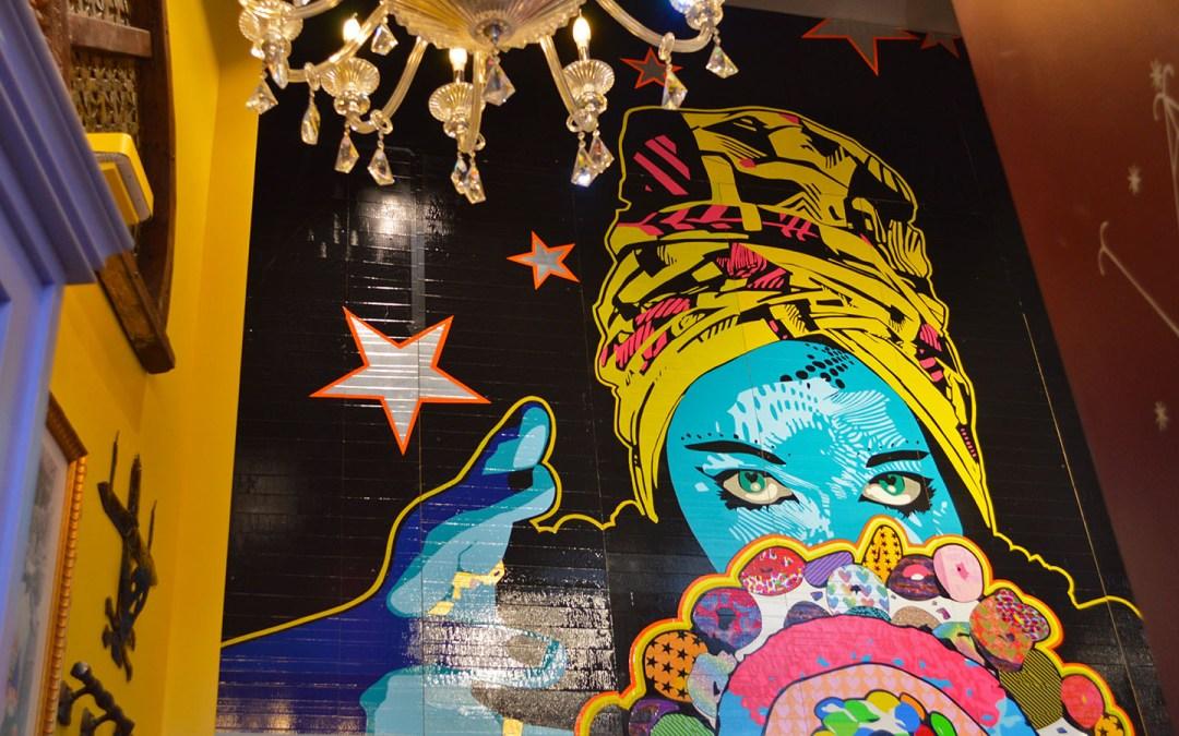 Voodoo Doughnut Duct Tape Mural Universal CityWalk