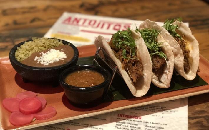 Carne Tacos at Antojitos