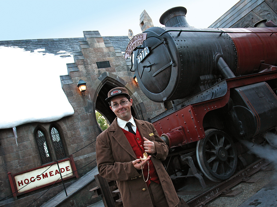 Hogwarts Train Conductor in The Wizarding World of Harry Potter