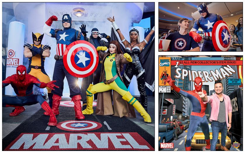 Conoce al Capitán América, Spider-Man, Rouge, Storm, Wolverine y más