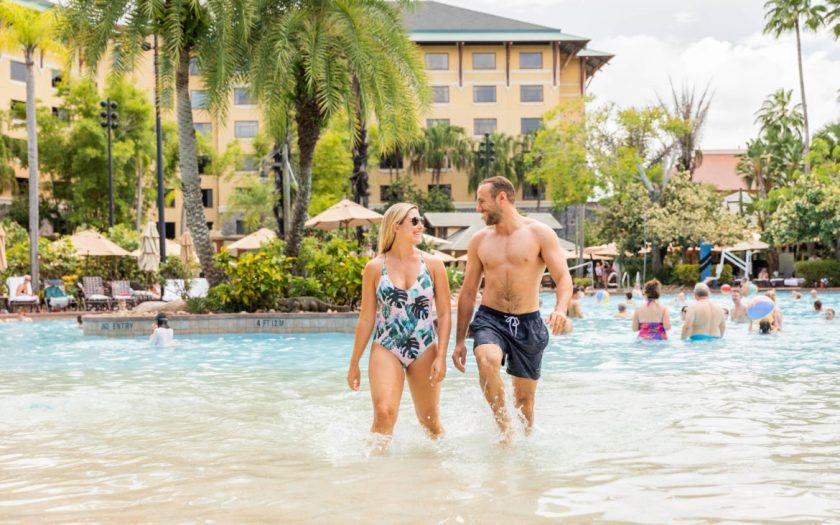 Loews Royal Pacific Resort Pool Walking