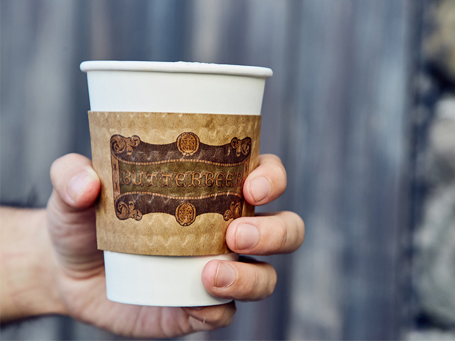 Hot Butterbeer in The Wizarding World of Harry Potter
