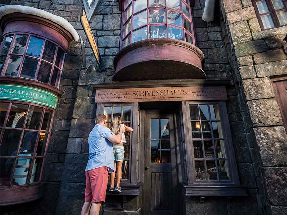 Shop Windows in The Wizarding World of Harry Potter