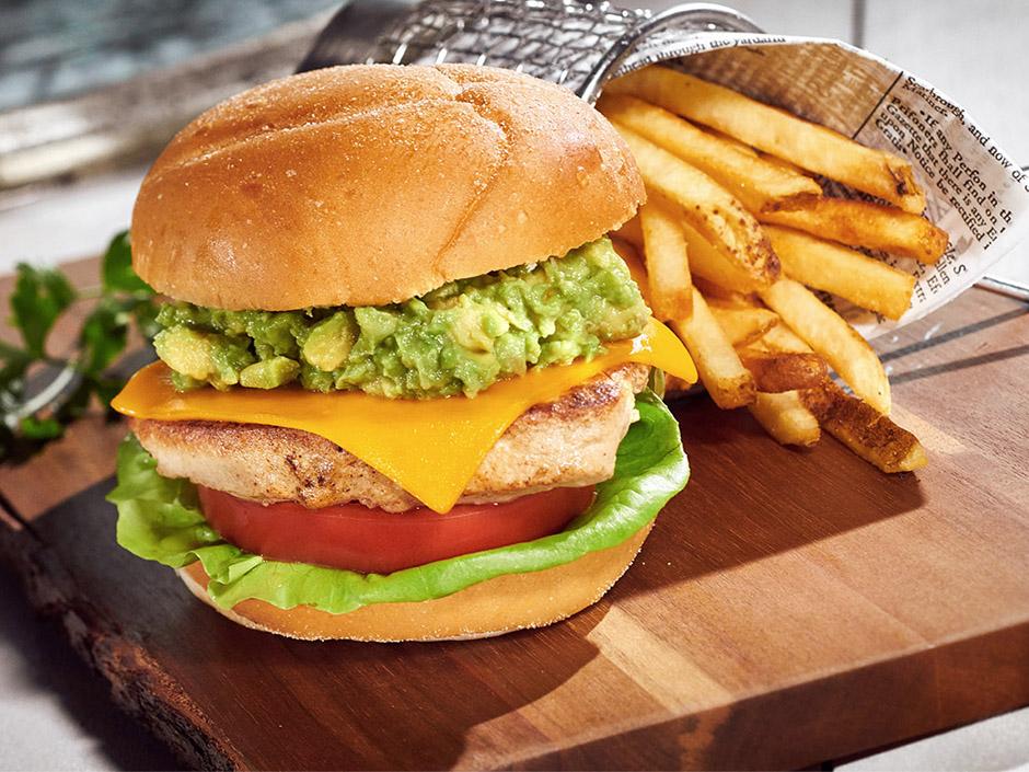 Vegan Chick'n & Avocado Sandwich Platter from Volcano Bay