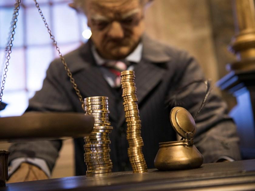 Harry Potter y la cola de escape de Gringotts - Moneda mágica