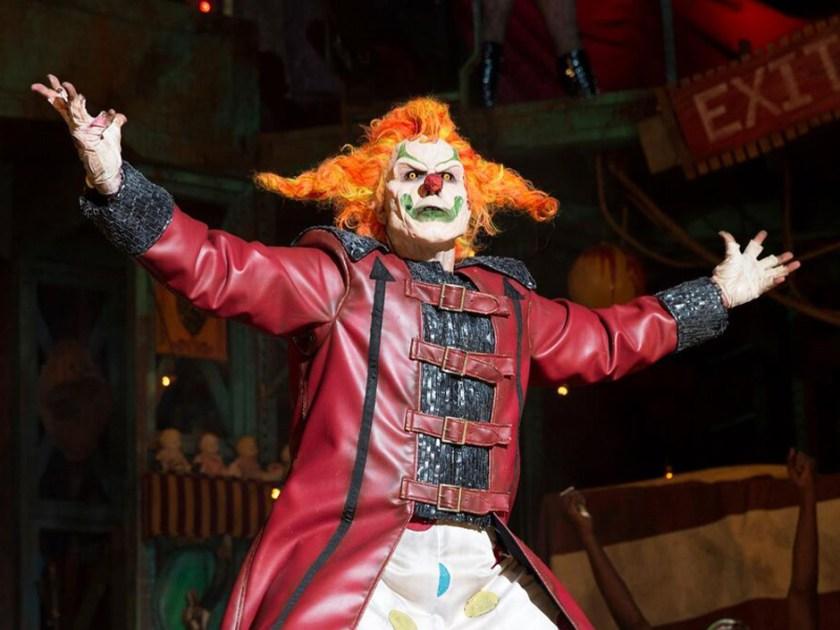 Jack el payaso en The Carnage Returns en Halloween Horror Nights 25