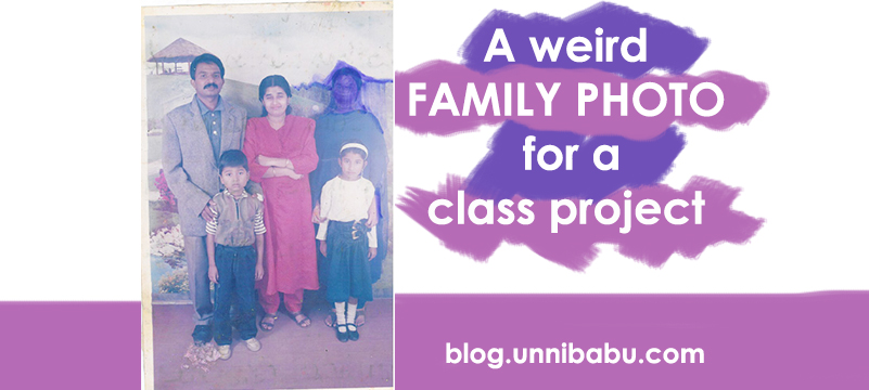 the family photo, unni babu family photo, anecdote, short story of family photo