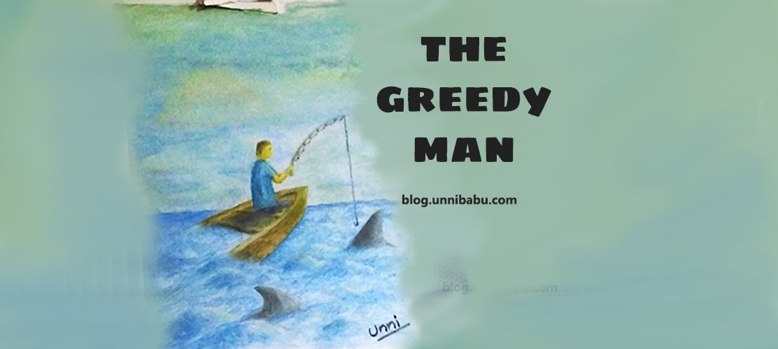 greedy man art, oil painting, short story