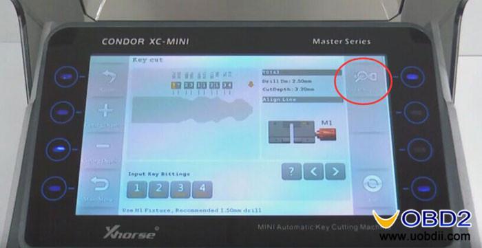 How to Cut TOY43 Key using Condor XC-Mini Find Bitting | China obd2