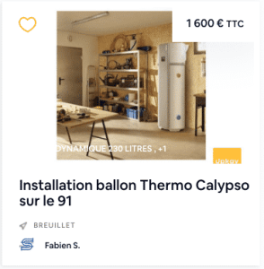installation ballon thermodynamique