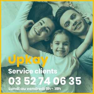 service client upkay de 9h à 19h du lundi au vendredi