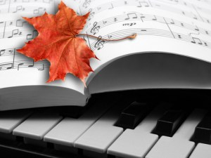 piano music w leaf