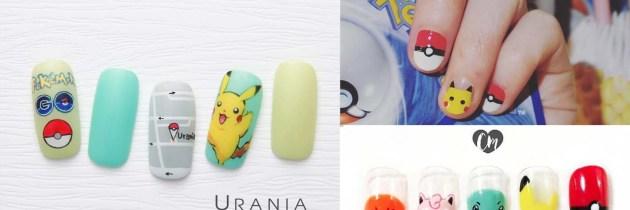 ♥ 火熱的Pokémon GO!未開放只好看指甲彩繪過過癮
