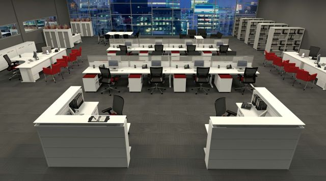 Aeroopenplan Workstation Design: 5 Inspiring Office Workstation Layout Examples Future of Work