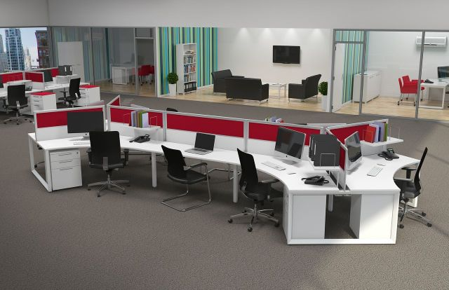 Anvil120Pod8Layout Workstation Design: 5 Inspiring Office Workstation Layout Examples Future of Work