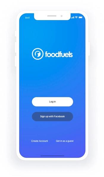 Foodfuels app design