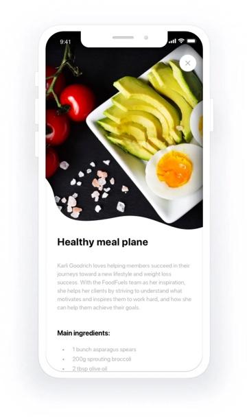 Foodfuels app design 8