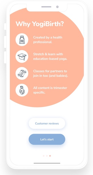 How to use Lean Startup in Yoga app? Yogibirth onboarding