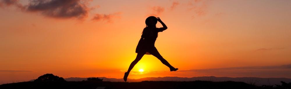 skip prototyping. sunset lady jump