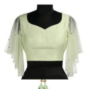 Embroidered Pastel Green Blouse