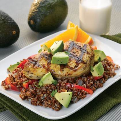Grilled Chicken and Avocado Quinoa Pilaf Recipe