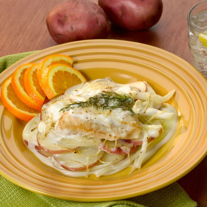 Chicken Fennel Recipe with Scalloped Potatoes