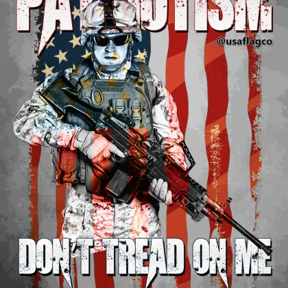 PATRIOTISM: Don't Tread On Me! One flag, one land, one heart, one hand,One Nation, evermore! - Oliver Wendell Holmes   USA Flag Co.
