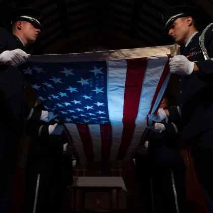 Old Glory Flag Folding Ceremony