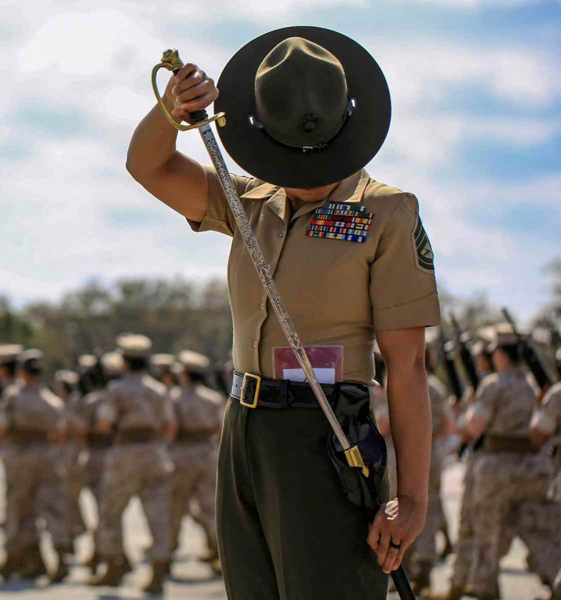 USMC Senior Drill Instructor Gunnery Sgt. Mayra Garcia