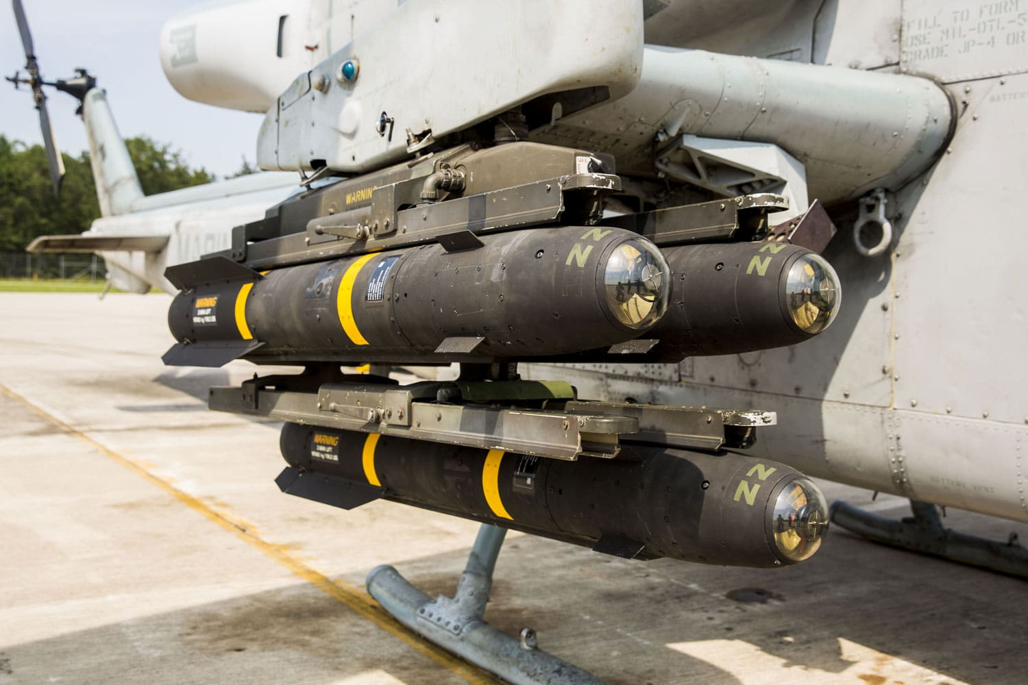AGM-14 hellfire missiles during Northern Strike at the Combat Readiness Training Center Alpena, MI. Northern Strike is a joint exercise hosted by the Michigan Air National Guard that emphasizes on close air support and joint fire support to enhance combat readiness.