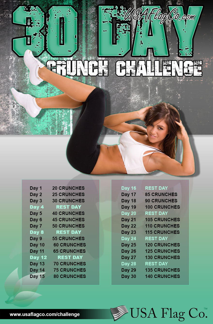 30-Day Crunch Challenge by USA Flag Co. | Get Ready; It's Crunch Time!