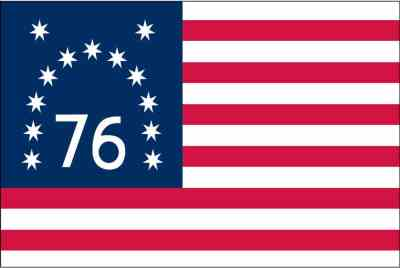 Originally believed to have been carried during the Revolution, the Bennington flag is now seen as having probably been made for the 50th anniversary of the Declaration of Independence in 1826.