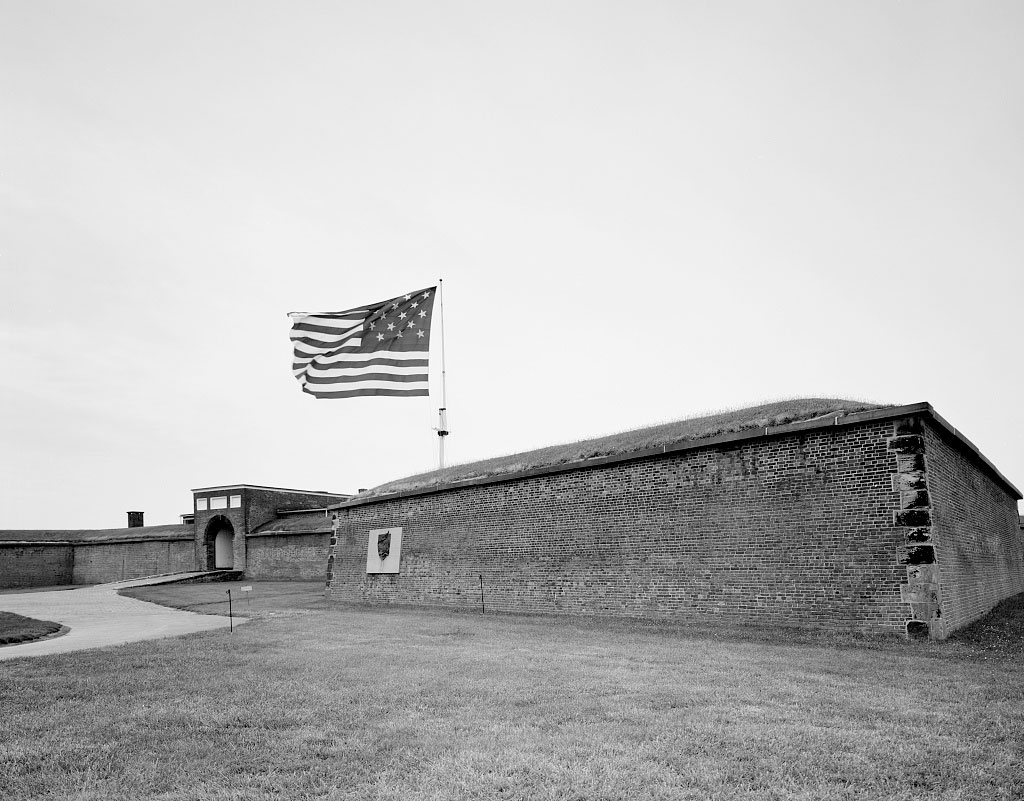 "Fort McHenry, the place where Francis Scott Key observed that the ""flag was still there"" and wrote the words to ""The Star Spangled Banner"" following an engagement with the invading British during the War of 1812. Baltimore, Maryland."