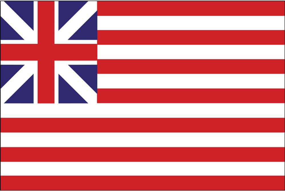 Grand Union Flag: The Grand Union Flag, also known as the Cambridge Flag, the First Navy Ensign, the Congress Flag, and the Continental Colors, is considered to be the first national flag of the United States.