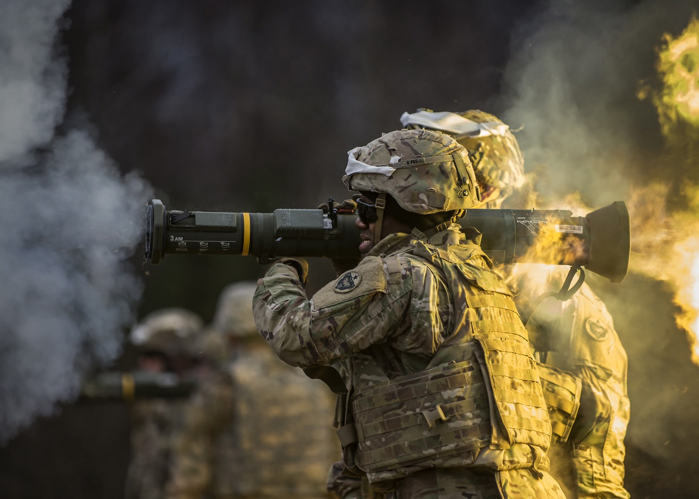 The Soldiers of 17th CSSB recently completed a series of live-fire training events that honed their skills on a variety of weapon systems to include: the M4 carbine, the M9 pistol, the M203 grenade launcher, and the M136E1 AT4-CS confined space light anti-armor weapon.