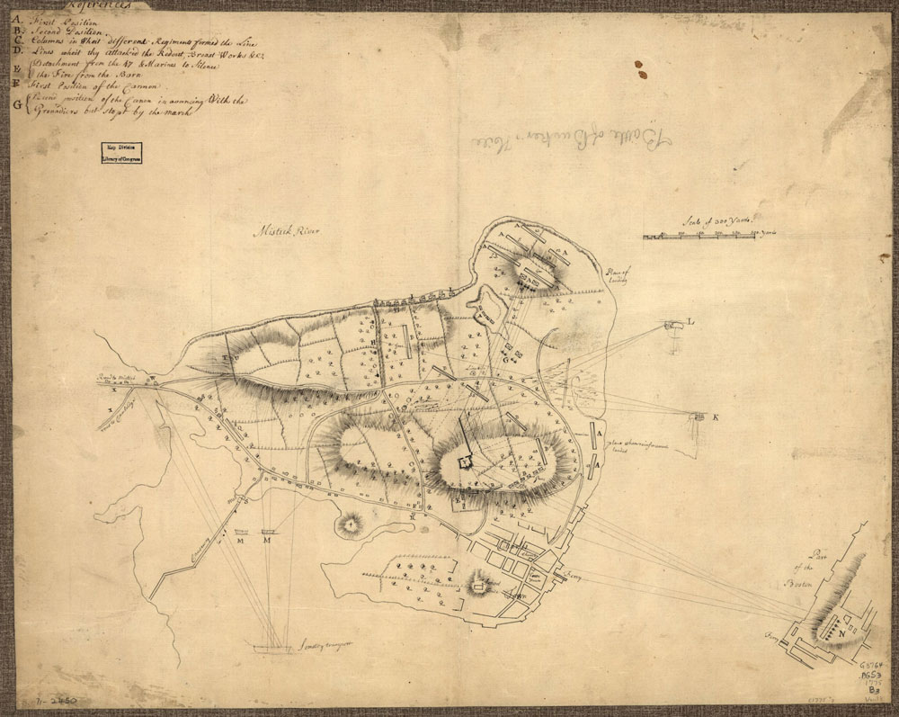 "Battle of Bunker Hill, Boston, Massachusetts, 1775--Maps--Early works to 1800. Includes ""References"" to points of military interest in different hand and ink."