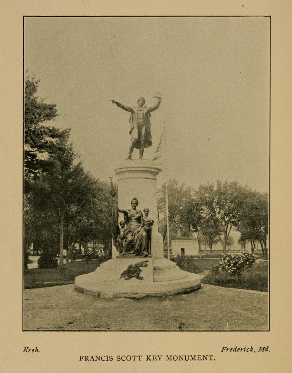 Francis Scott Key Monument, Frederic, Maryland.
