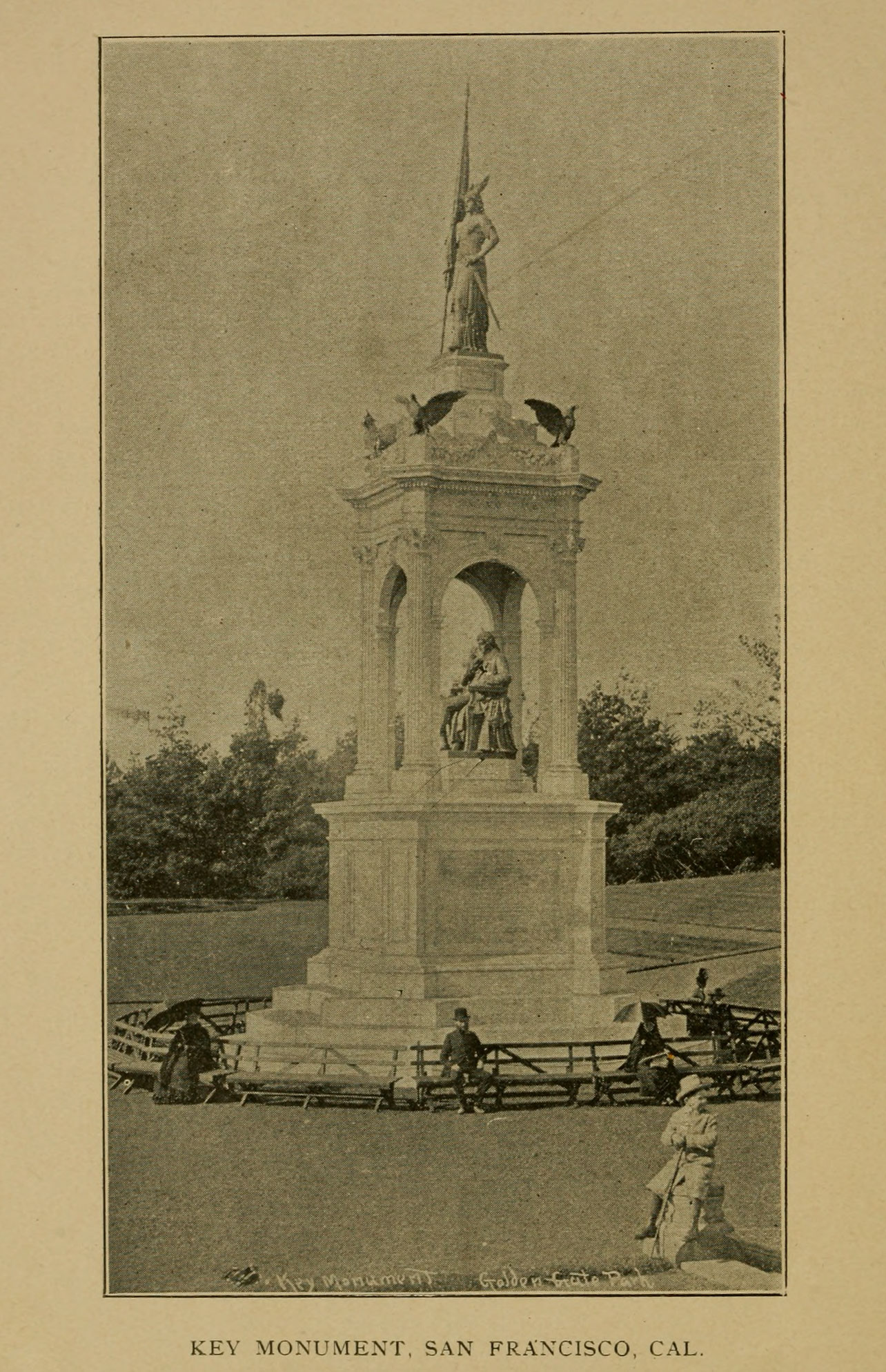 Francis Scott Key Monument, San Francisco, California.