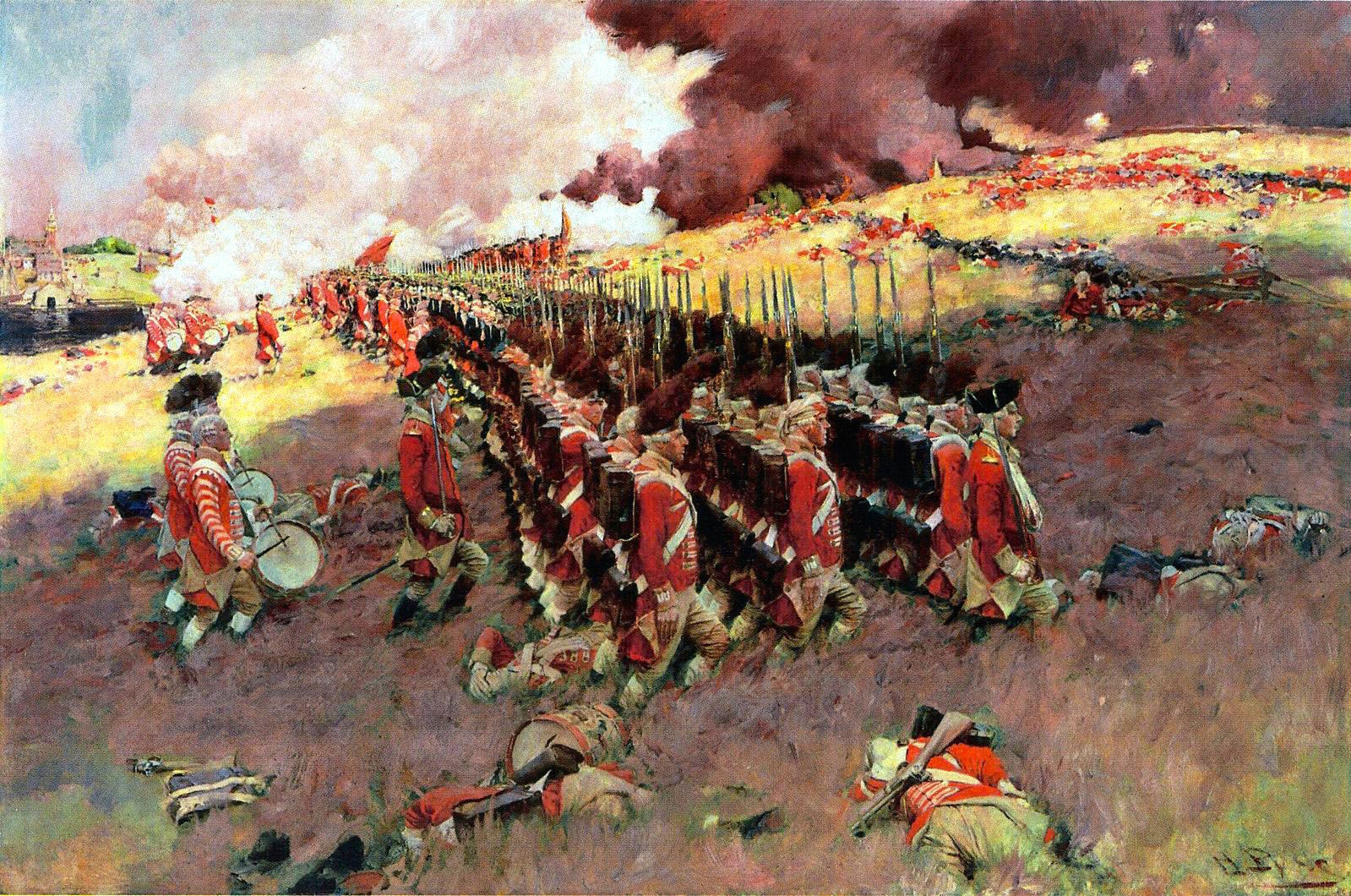 The Battle of Bunker Hill, by Howard Pyle