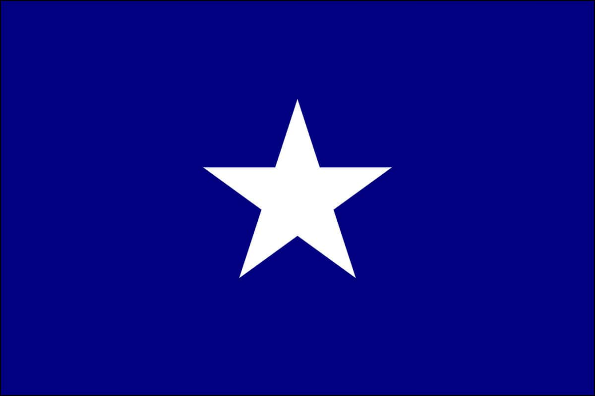 Bonnie Blue Flag: The Bonnie Blue Flag was an unofficial banner of the Confederate States of America at the start of the American Civil War in 1861. It consists of a single, five-pointed white star on a blue field.