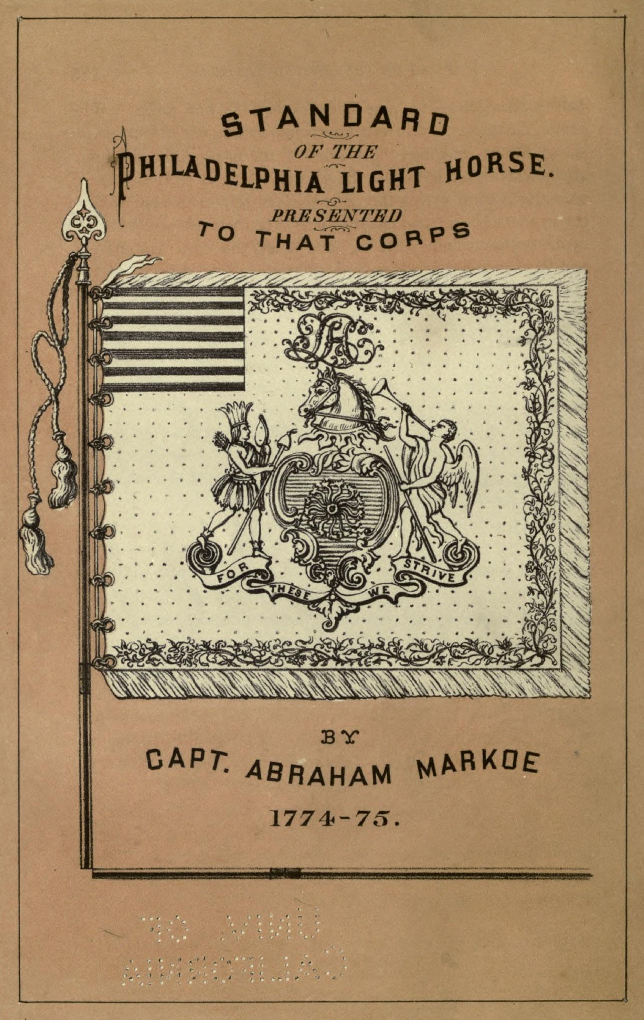 History or the Philadelphia Light Horse Flag